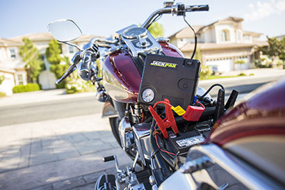 Portable motorcycle battery charger